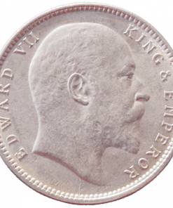 One Rupees India 1905 Edward Vii King Silver Coin