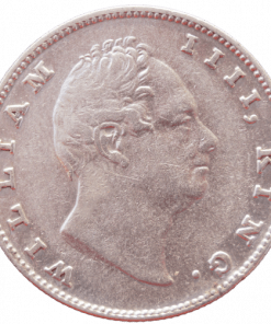 East India Company One Rupees 1835 Rare Plain Neck Bombay Mint William Silver Coin