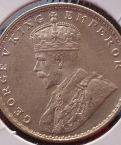 One Rupee India 1921 Rare Date George V Silver Coin
