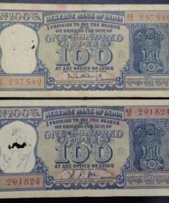 India 100 Rupees old Diamond Issue Two Different Governor L. K. Jha P. C. Bhatacharya Condition as Per Image #2