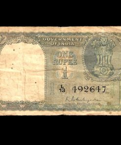 One Rupee Old Issue 1950 Signature K.G AMBEGAONKAR FLORAL DESIGN Note***VERY RARE*** Same as Per Shown Note Given#2