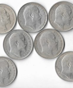 One Rupee Edward Vii 7 date Set 1903,04,05,06,07,09,10****Lowest Price**** British India Coins Collection Must Have #3